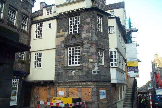 JOHN KNOX HOUSE IN EDINBURGH, SCOTLAND