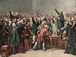 The National Assembly were forming a constitution favoring either a limited or non-existent monarchy.