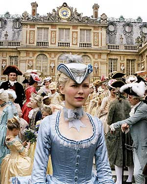 Kirsten Dunst as the young dauphine of France, Marie Antionette.