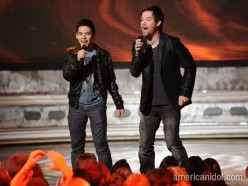 David Archuleta and David Cook standing side-by-side: Lets the games begin boys!