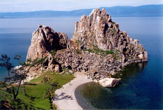 Shaman Rock on Olkhon Island, the largest island in Lake Baikal