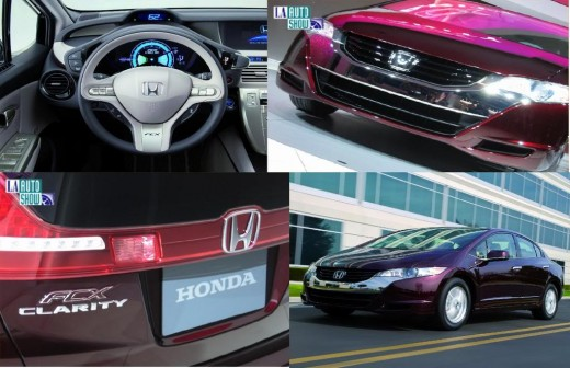 In this shot you can see the Honda Clarity dashboard layout.