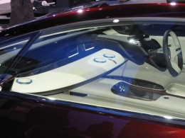 This is the interior of the earlier concept car. Radical!