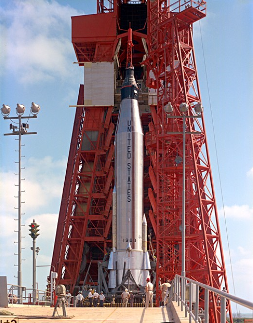 The Atlas rocket used on later flights was not yet ready for Grissom's flight. Photo courtesy of NASA.