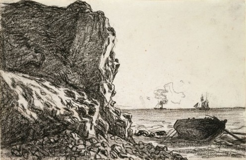 CLIFFS AND SEA, SAINT-ADRESSE, (1865)