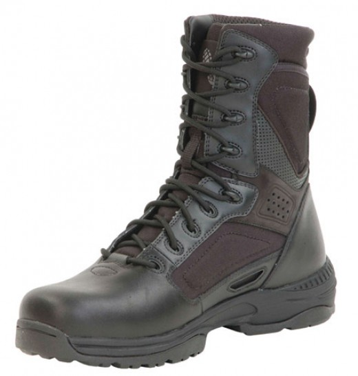 A typical tactical boot is made of a variety of materials and requires  specialized cleaning