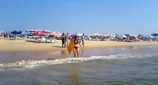 Neha Dhupia enjoying at Goa beach