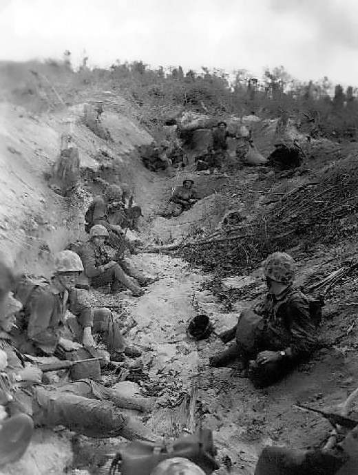 Marines at Orange beach Battle of Peleliu
