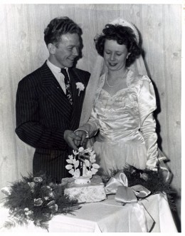 Grandpa and Grandma's wedding day