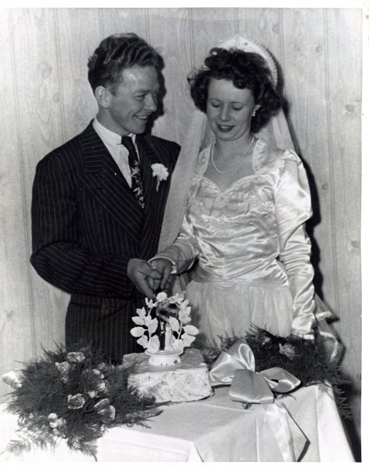 Grandpa and Grandma's wedding day