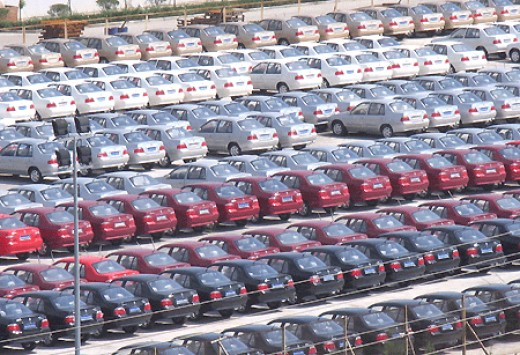 Nowhere is it more apparent to see surplus value than in mass lots of new cars that can cover several football fields in a single shipment.