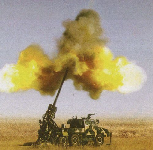 A lot of productive energy is directed to the destructive commodities of war such as this self propelled howitzer.