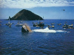 The Rainbow Warrior is settled into the pristine Northland waters to provide an artificial reef home for marine creatures and international dive site like no other. R.I.P.