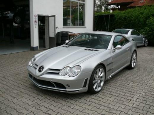 Mercedes SL body kit from Prestige, designed to replicate the SLR McLaren