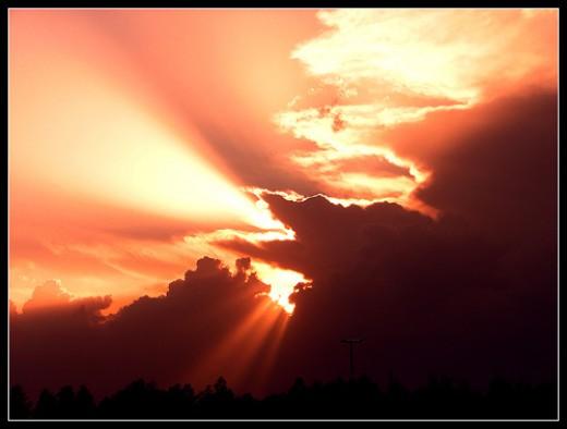 Stunning sunset picture taken in Tehran