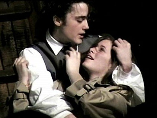 Les Misreables-Eponine and Marius, the one she took a musket shot for