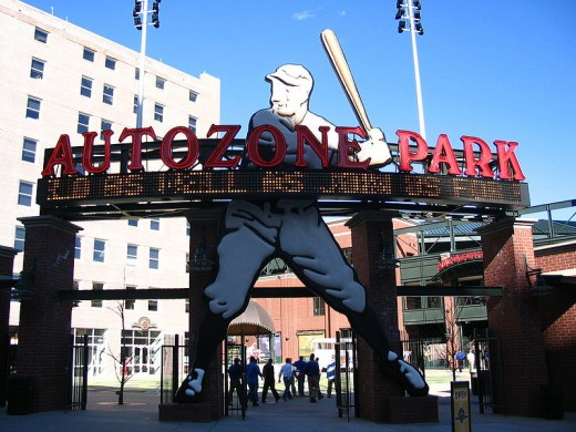 AutoZone Park - Baseball-only park in Downtown Memphis.