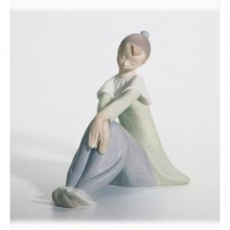 retired lladro figurine pierrot girl