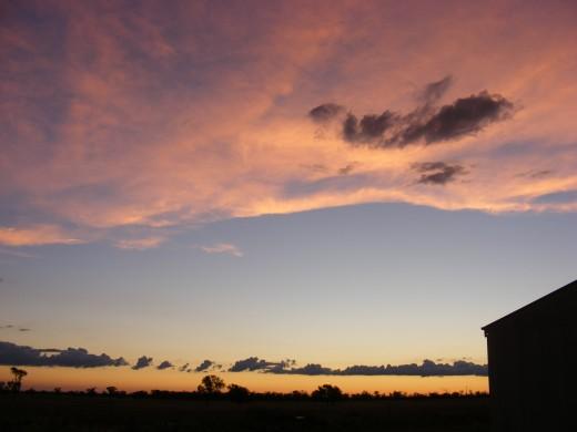 Summer Sunset at Eleura Downs