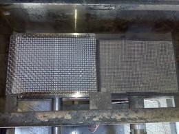 New infrared burner and old infrared burner.
