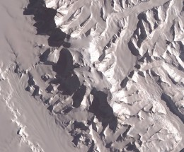 A Satellite image of Mount Vinson