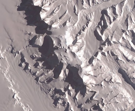 A Satellite image of Mount Vinson
