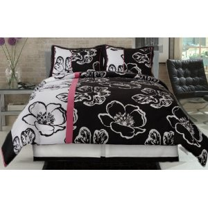 Hot Pink and Black Bedding