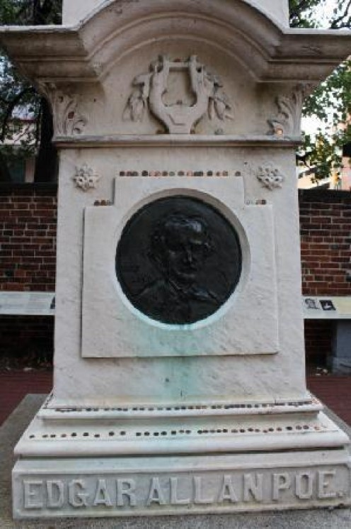 Edgar Allan Poe's eternal headstone for Evermore
