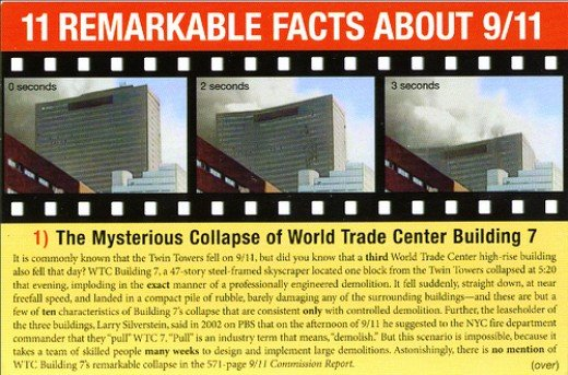 The 9-11 Truth Organization has questions regarding tower 7 that collapsed even though no planes struck it and there were only minor fires that could have easily been doused.