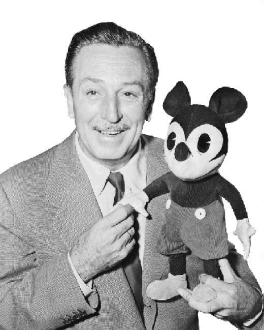 Walt Disney himself, with Mickey Mouse