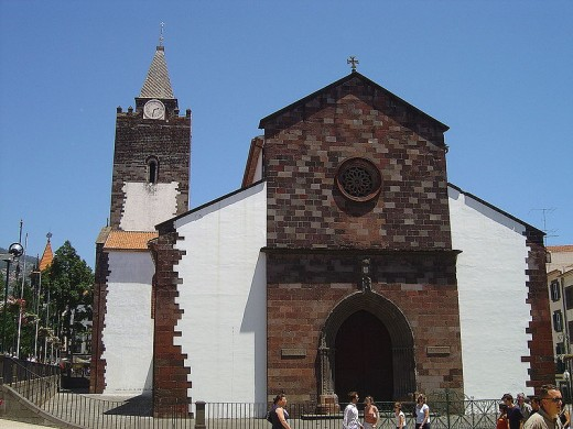 The cathedral of Funchal in the Madeira Island