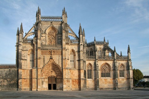 Monastery of Batalha, Portugal - Flamboyant Gothic architecture, intermingled with Manueline style