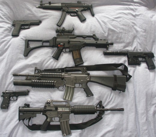 Airsoft guns can get extremely close to the real thing.