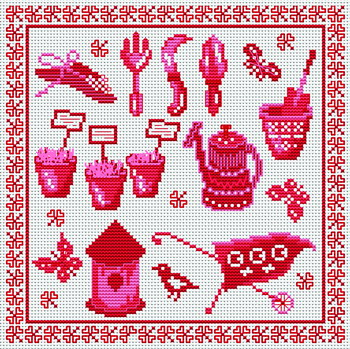 You can download the pattern for this cross-stitch piece for free at the Cross Stitchers Club.