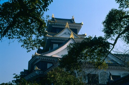 Okayama Castle. A reconstructed version of the original.