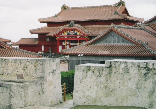 The rebuilt Shuri Castle, Okinawa. The former seat of the Ryukyu dynasty.