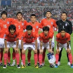 The South Korean Team which thrives on an up tempo game. Picture from usoccers.com/