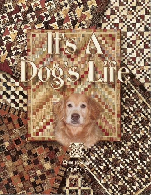 "The book, ""It's A Dog's Life with quilt designs by Carrie Nelson."