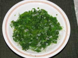 Healthy steamed kale