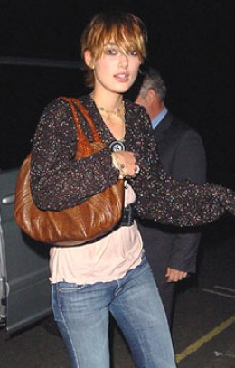 Keira Knightley is spotted out and about with her Fendi Spy Bag.