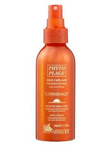 PHYTO L'ORIGINALE PROTECTIVE BEACH SPRAY ($22) at Phyto L'Originale Protective Beach Spray at phyto-usa.com is a UV blocker for hair.