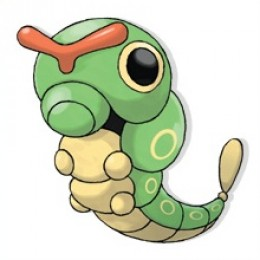 Caterpie is a little bug pokemon.