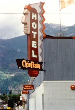 Hotel in Squamish - Note the two entrances