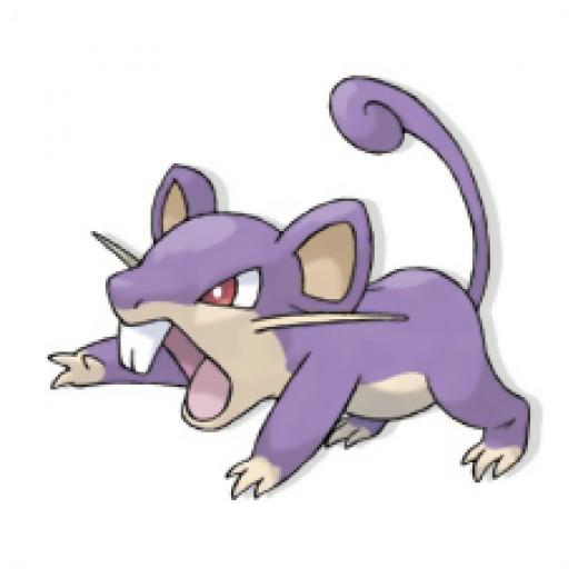Rattata is a small purple rat pokemon.
