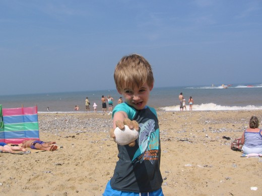 On Cromer Beach