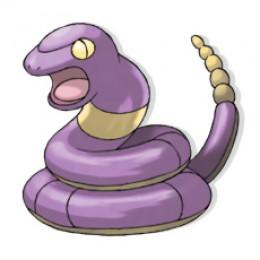 Ekans is a little purple snake pokemon.