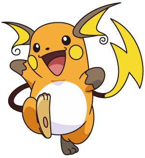 Raichu is the evolution of Pikachu.