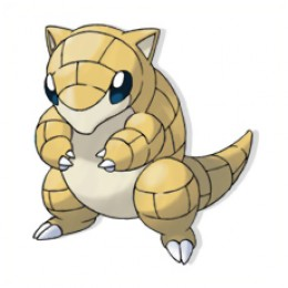 Sandshrew is a little ground mouse pokemon.
