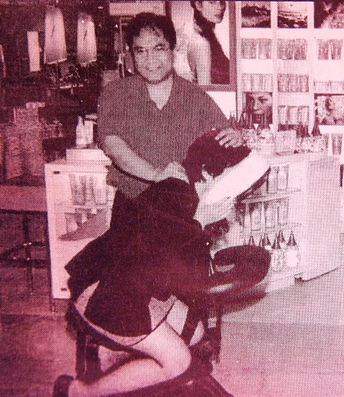 Massage can do wonders to our body. Chair massage session by writer/practitioner. (Photo from newsclipping).