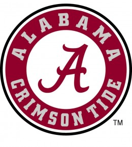 The Official NCAA Logo of The University of Alabama Athletics.